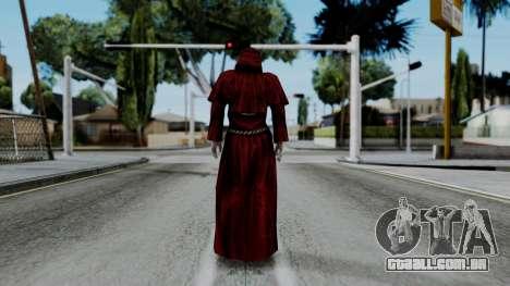 Monje Skull Gold Skin para GTA San Andreas terceira tela