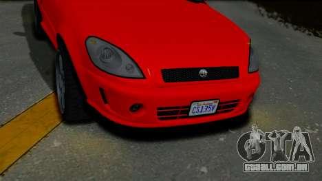 GTA 5 Declasse Premier Coupe IVF para GTA San Andreas vista direita