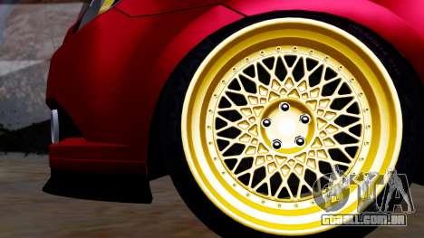 Chevrolet Aveo Stance para GTA San Andreas traseira esquerda vista