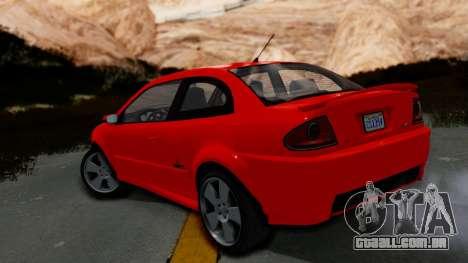 GTA 5 Declasse Premier Coupe IVF para GTA San Andreas esquerda vista