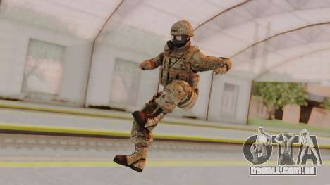 US Army Multicam Soldier Gas Mask from Alpha Pro para GTA San Andreas segunda tela