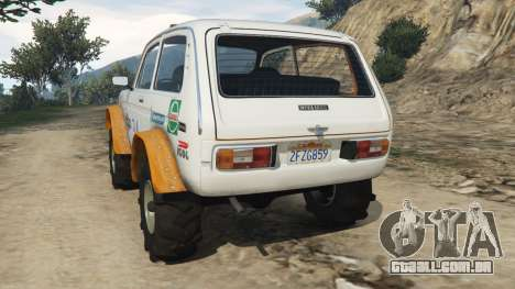 GTA 5 VAZ-2121 [off-road] traseira vista lateral esquerda