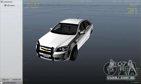 GTA 5 Unmarked Chevrolet Caprice vista lateral direita