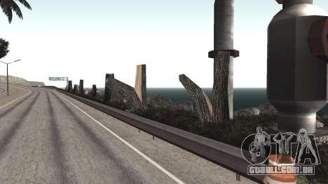 Road repair Dos Santos - Las Venturas. para GTA San Andreas oitavo tela
