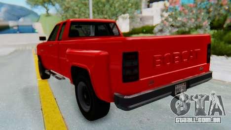 GTA 5 Vapid Bobcat XL para GTA San Andreas traseira esquerda vista