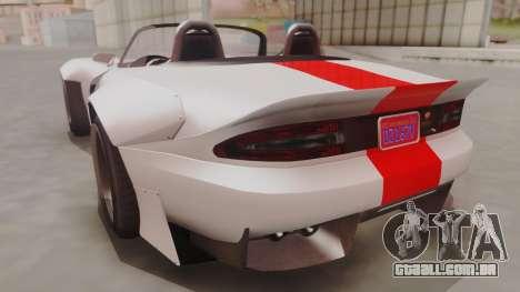 GTA 5 Bravado Banshee 900R IVF para GTA San Andreas esquerda vista