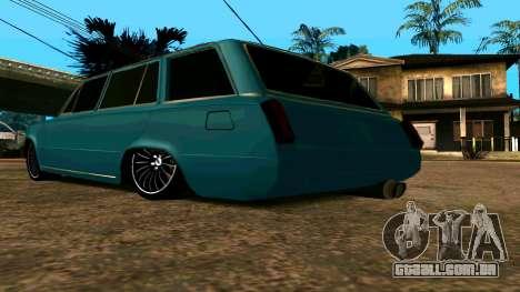 VAZ 2102 БПАN para GTA San Andreas vista traseira
