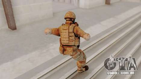 US Army Multicam Soldier Gas Mask from Alpha Pro para GTA San Andreas terceira tela