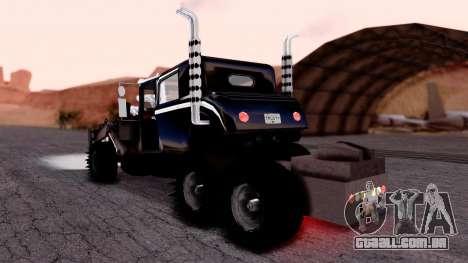Mad Max The War Rig Bilge Tuning para GTA San Andreas esquerda vista