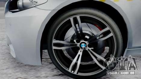 BMW M5 F10 Hungarian Police Car para GTA San Andreas vista direita