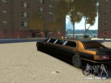 Taxi STRECH para GTA 4 esquerda vista