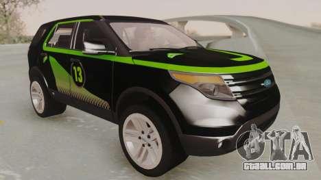 Ford Explorer para GTA San Andreas vista interior