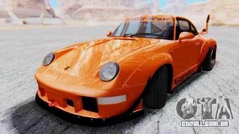 Porsche 993 GT2 RWB GARUDA para GTA San Andreas traseira esquerda vista