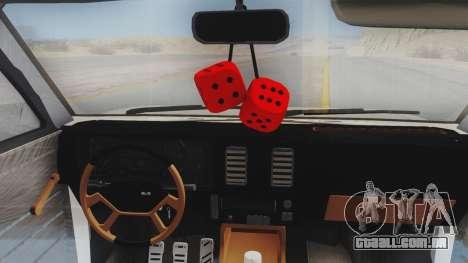 Chevrolet Chevette Stance para GTA San Andreas vista traseira