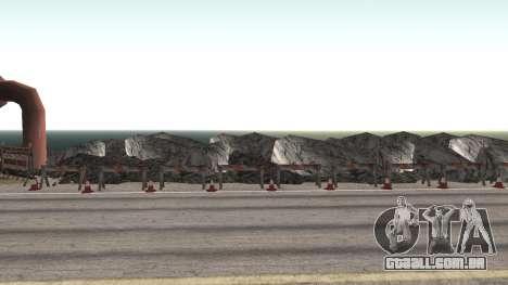 Road repair Dos Santos - Las Venturas. para GTA San Andreas sétima tela