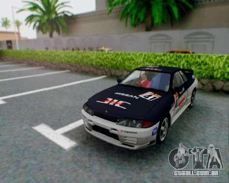 Nissan Skyline R32 GTR para GTA San Andreas vista superior