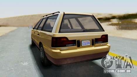 GTA 5 Vulcar Ingot para GTA San Andreas esquerda vista