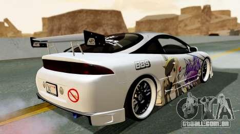 Mitsubishi Eclipse 1999 Mugi Itasha v2 para GTA San Andreas esquerda vista