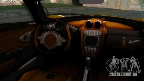 Pagani Huayra LB Performance V.2 para GTA San Andreas traseira esquerda vista