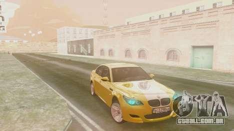 BMW m5 e60 Gold para GTA San Andreas