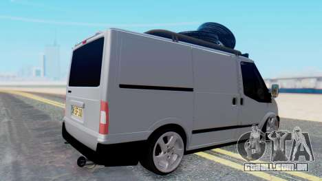 Ford Transit 2007 Model AirTran para GTA San Andreas esquerda vista