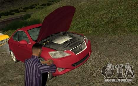 Situação de vida 4.0 para GTA San Andreas por diante tela