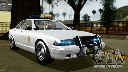 GTA 5 Vapid Stanier II Sheriff Cruiser para GTA San Andreas
