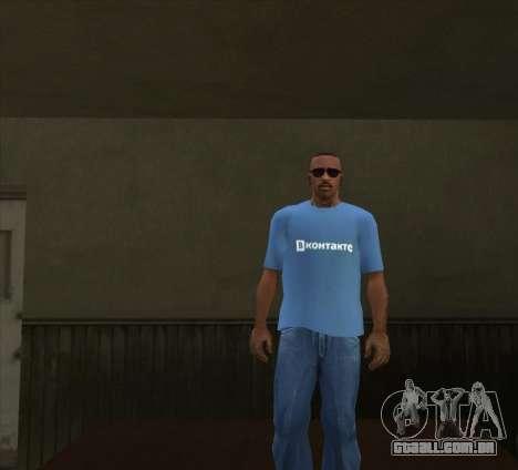 T-Shirt VKontakte para GTA San Andreas terceira tela