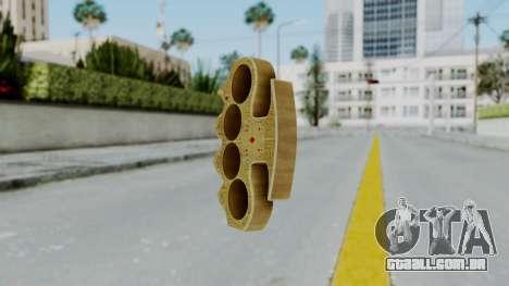 The Player Knuckle Dusters from Ill GG Part 2 para GTA San Andreas segunda tela