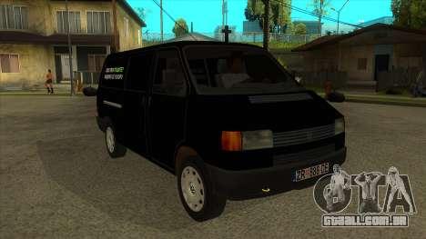 VW T4 Mrtvačka rodas para GTA San Andreas vista traseira