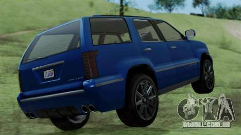 GTA 5 Albany Cavalcade v2 IVF para GTA San Andreas traseira esquerda vista