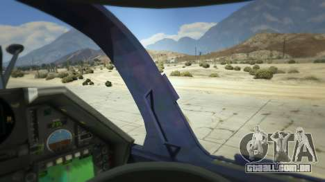 GTA 5 Dassault Mirage 2000-5 quinta imagem de tela