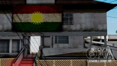 New CJ House with Kurdish Flag para GTA San Andreas terceira tela