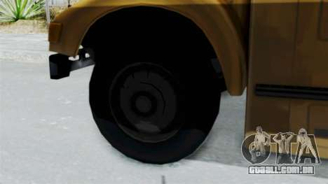 Bus from Life is Strange para GTA San Andreas traseira esquerda vista