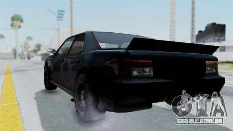 Hotring Sultan para GTA San Andreas esquerda vista