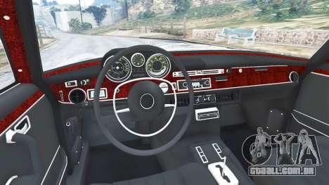 GTA 5 Mercedes-Benz 300SEL 6.3 1972 traseira direita vista lateral