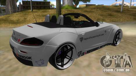 BMW Z4 Liberty Walk Performance Livery para GTA San Andreas vista direita