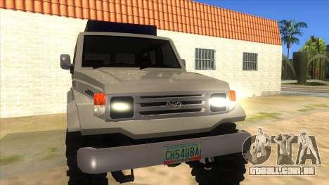 Toyota Machito 4X4 para GTA San Andreas vista traseira