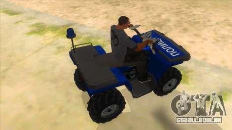 ATV Polaris Police para GTA San Andreas vista direita