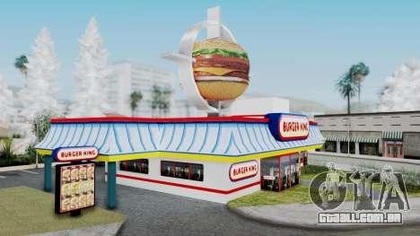 Burger King Texture para GTA San Andreas segunda tela