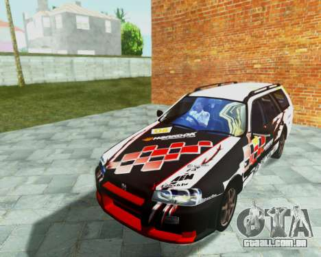 Nissan Stagea Tunable para GTA San Andreas vista superior