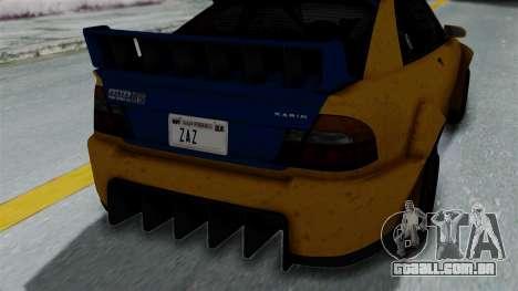 GTA 5 Karin Sultan RS Rally PJ para GTA San Andreas vista traseira