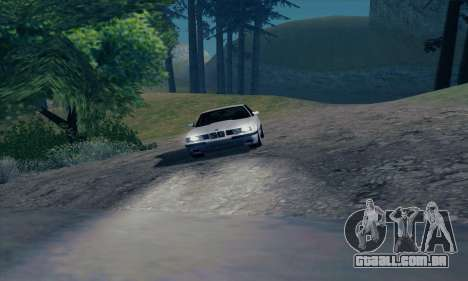BMW M5 E34 para GTA San Andreas vista superior