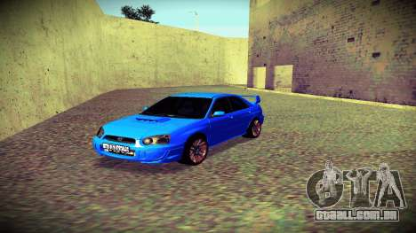 Subaru Impreza WRX STi Civil para GTA San Andreas vista interior
