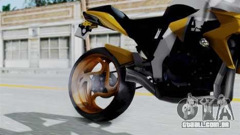 Honda CB1000R v2 para GTA San Andreas vista direita