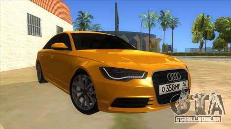 Audi A6 2012 para GTA San Andreas vista traseira