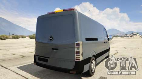 GTA 5 Mercedes-Benz Sprinter Worker Van traseira vista lateral esquerda