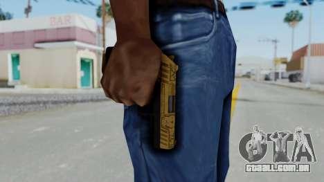 GTA 5 Online Lowriders DLC Combat Pistol para GTA San Andreas terceira tela