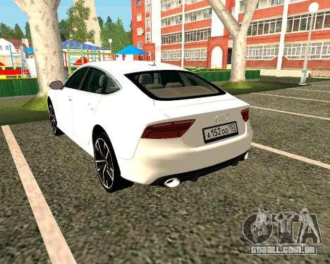Audi RS7 Quattro para GTA San Andreas traseira esquerda vista