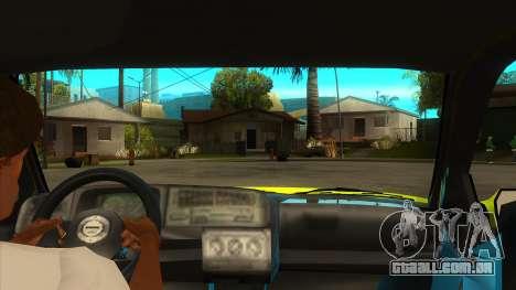 VW Golf Mk3 Top Speed Auto Skola para GTA San Andreas vista interior